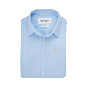 Mizzen + Main Dress Shirts (Color: Light Blue Glen)
