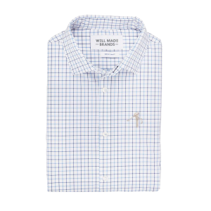Mizzen + Main Dress Shirts (Color: Blue Tattersall)