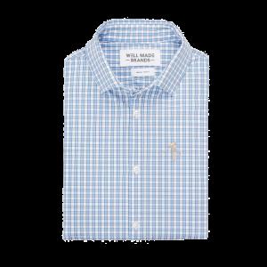 Mizzen + Main Dress Shirts (Color: Light Blue Check)